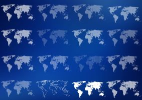 16 World Map Pixelated by isfahangraphic