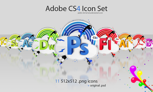 Adobe CS4 icon set by Pedro-de-la-Luna