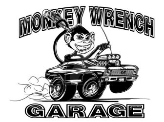 Inking - Monkey Wrench Garage by forbesrobertson