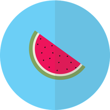Flat Watermelon Design! by blenderednelb