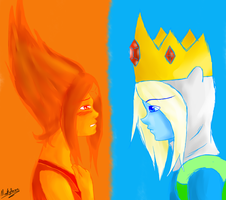 ice prince and fire princess by ninaqueenbee