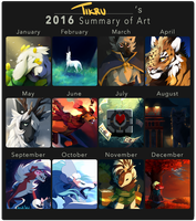 Summary of Art 2016 by Tikrekins