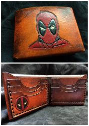 Leather Deadpool Wallet by Skinz-N-Hydez