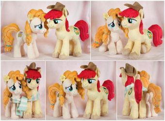 Pear Butter and Bright Mac Beanie Plushies by ButtercupBabyPPG