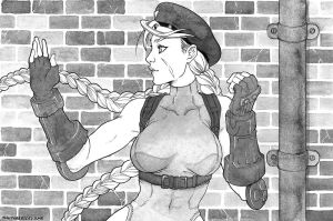 Inktober2017 Day09 Cammy StreetFighter by Kme