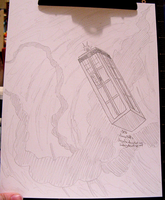 AN Commission: TARDIS Sketch by Dezfezable