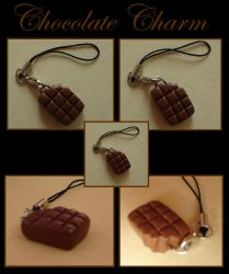 Sculpey chocolate charm by Stardust405