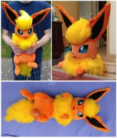 Flareon Companion Plush by Cryptic-Enigma