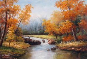Fishing at The Creek - Arteet by Arteet
