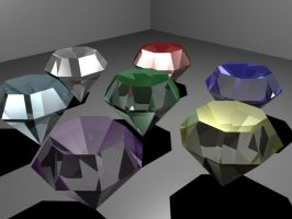 The Chaos Emeralds by Zerox466