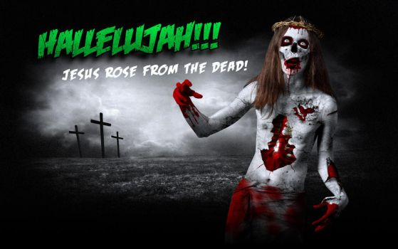 Jesus Zombie by shadowiness