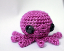 Purple Baby Octopus 03 by tinyowlknits