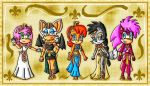 egyptian sonic girls by ninpeachlover