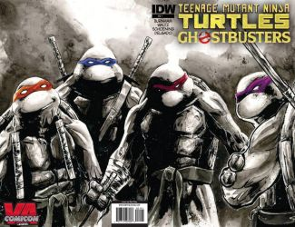 TMNT/Ghostbusters crossover #1 by SpaciousInterior