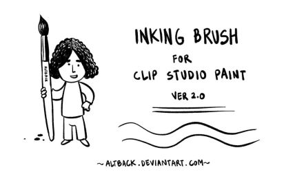 Inking Brush for Clip Studio Paint - ver2.0 by altback