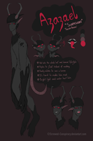 New OC: Azazael Reference Sheet by Screwed-Conspiracy