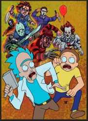 RICK AND MORTY VS VILLAINS_COLOR by jdavidlee1979