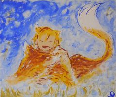The Fox and the Orange child by lindividulouche
