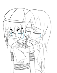 I'll be here for you... - Lineart by VeoGirl