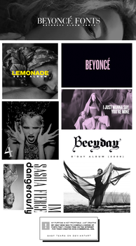 FONT PACK III (BEYONCE FONTS) by Witchgang