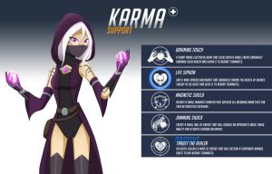 Overwatch OC - Karma by HuggableRogue