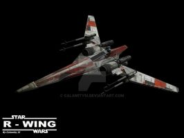 Star Wars R-Wing Fighter by calamitySi