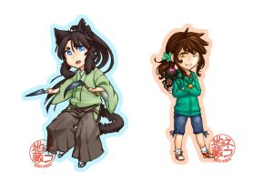 Chibi Commission Samples by nekojizou