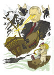 Putin saves Russia from pirates by Polymental69