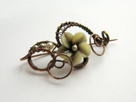 Brooch 'Smoky orchid' by UrsulaJewelry