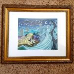 Framed original Giselle Illustration painting by snuapril01
