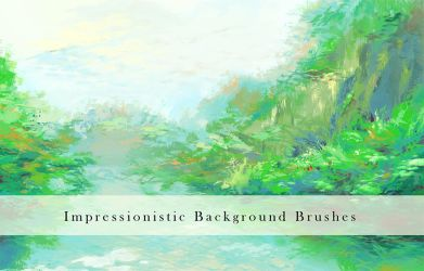 Impressionistic Background Brushes by Nyanfood