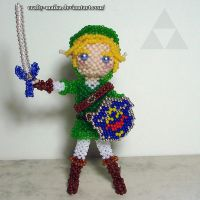 Bead doll: Adult Link (Ocarina of Time) by crafty-maika