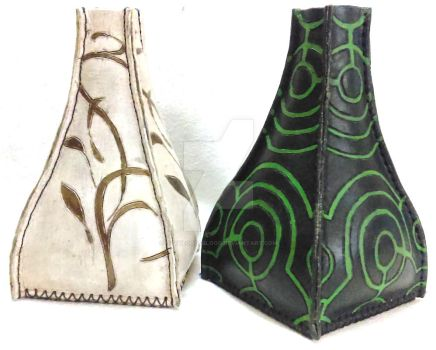 Cuir Bouilli Leather Vases by OfTheGodsBlood