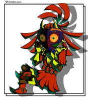 Skull Kid Colored by ArmaBiologica