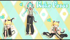.:: MMD - Neko Pose Pack ::. DL by MMDMikuxLen