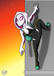 Spider-gwen by sheenathehedgehog