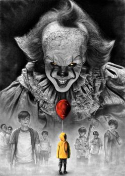Stephen King IT 2017 Pennywise vs Losers Club by Yankeestyle94