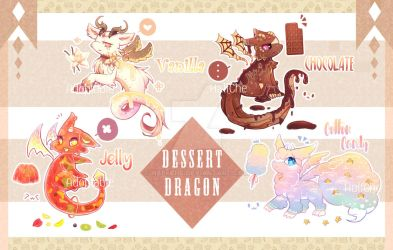 [CLOSED] Adoptable : Dessert Dragon by HalfChe