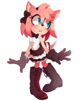 Amy Rose DressUP Fancy by TheMonstersBride
