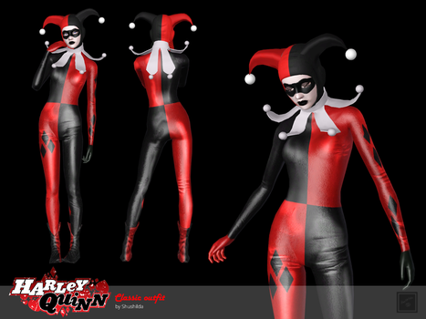 Classic outfit Harley Quinn for The Sims 3 by Shushilda