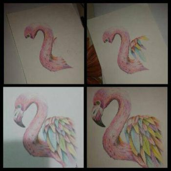 Cotton candy flamingo by caytindo