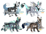 Ota - Adoptable - Blue Set - ( CLOSE ) by tseiko-adopts
