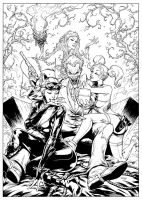 Gotham City's Most Wanted - Inks by FlowComa