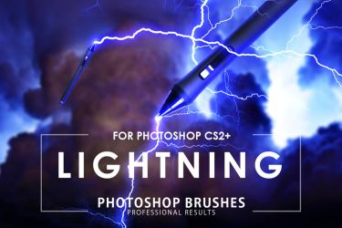 Lightning photoshop Brushes by ArtistMEF
