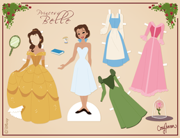 Belle Paper Doll by Cor104