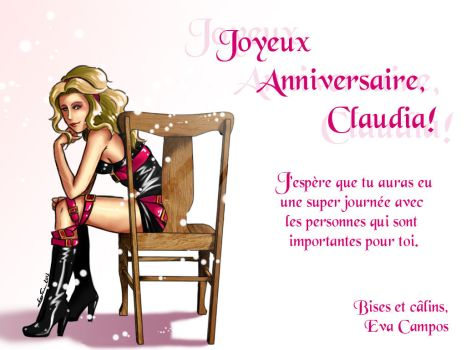Anniversaire Claudia 2013 by Evinawer