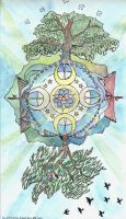 The Celestial Compass (an interfaith mandala-icon) by ladywillowpdx