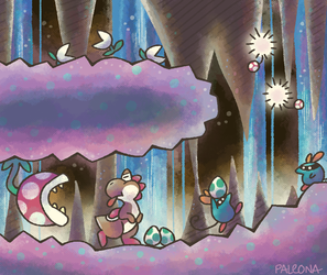 crystal caves by Paleona
