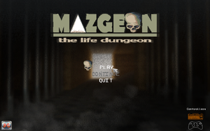 Game's title menu [2] - Mazgeon by dokitsu