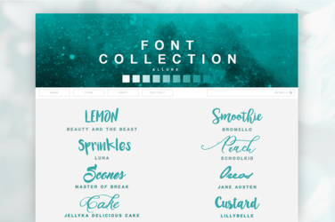 Font Pack 02 | Allure by SugarRush19